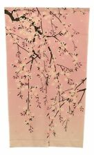 "Japanese Noren Curtain Tapestry Pretty Sakura Pink Cherry Blossoms 59.25""L"