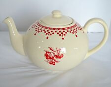 Le Comptoir De Famille LG Teapot Coffee Server France Ivory Red Cherries Ceramic