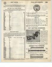 1926 PAPER AD Yale Brand Hand Power Crank Key Cutting Machine