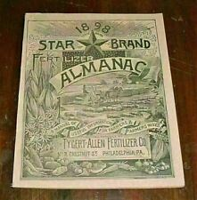 LeRaysville PA, Eastabrook, Allis Hollow - 1898 Star Brand Fertilizer Almanac VG