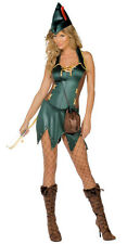 FEVER ARCHER Costume Sexy Faux Leather Dress + Hat Medium Adult 10 12 Robin Hood
