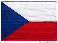 CZECH REPUBLIC FLAG embroidered iron-on PATCH CZECHOSLOVAKIA APPLIQUE SOUVENIR