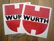 "WURTH RACING ADESIVI AUTO 5 ""COPPIA RACE RALLY CLASSIC BMW Porsche Mercedes Audi"