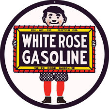 White Rose Gasoline Motor Oil Station Sign