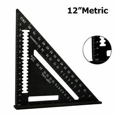 "12"" Aluminum Alloy Speed Square Carpenter Protractor Miter Frame Measuring Tool"