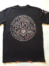 AFFLICTION AMERICAN CUSTOMS Black T-shirt