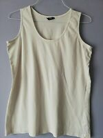 """F&F WOMENS WHITE SLEEVELESS VEST TOP SIZE 20 PIT TO PIT 20 """" STRETCH LENGTH 27 """""""