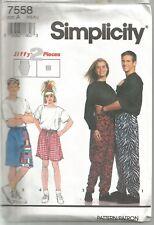 Simplicity Sewing Pattern 7558, Drawstring Pants or Shorts, Size XS-XL, Uncut