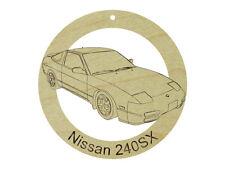 Nissan 240SX Natural Maple Hardwood Ornament Sanded Finish Laser Engraved