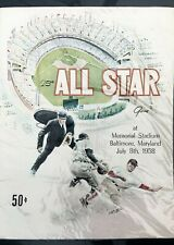 1958 ALL-STAR GAME {BALTIMORE} PROGRAM--UNSCORED---GREAT SHAPE!