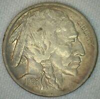 1920 Buffalo Indian Head Nickel 5c US Coin Five Cents XF Extra Fine K55
