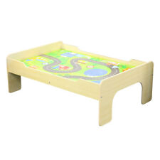 Wooden Play Table with Reversible Top - Grass or Road Design Age 3+