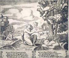 Kupferstich, Psyche und Amor, M. Coxie/ Meister B, ~1530, Bartsch 52
