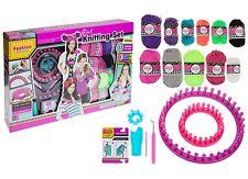 Niños y niñas 6IN1 conjunto de tejido Kit de arranque artesanías de Juguete Regalo de Cumpleaños + Telar y accesorios