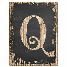 PP02329 Alphabet Initial Name Letter Q Chic Sign Bar Shop Store Home Room Decor