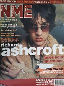 Nme Music Magazine.17 June 2000.Richard Ashcroft Cover.Coxon/Bon Jovi/Deftones+