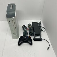 Microsoft Xbox 360 Pro System 60GB White W/ Power, AV Cable, Wireless Controller