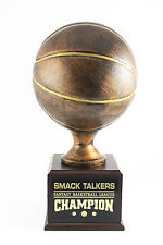 12 YEAR PERPETUAL FANTASY BASKETBALL TROPHY - FREE ENGRAVING!!! SHIPS IN 1 DAY!