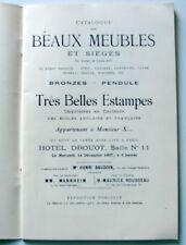 MEUBLES SIEGES LOUIS XVI - ESTAMPES - COLLECTION M. X… - Drouot 1927
