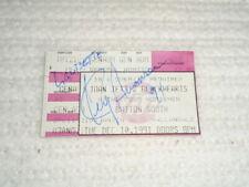 Joan Jett Blackhearts 1991 SIGNED Ticket Stub Kenny Aaronson Thommy Price