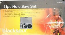 Blackspur - 11Pc HOLE SAW CUTTING SET KIT 19-64mm  Wood Thin Metal/Alloys HSB106