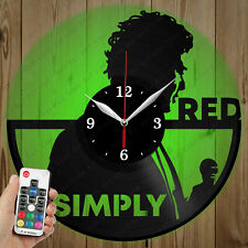 LED Vinyl Clock Simply Red LED Wall Art Decor Clock Original Gift 4866