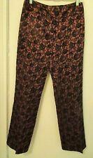 Harold's Ladies Size 6 Brown & Black Textured Print Pants