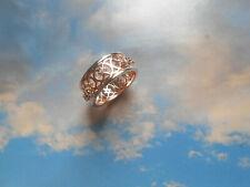 Belle bague anneau ancienne vintage Couture argent or rose brillants