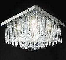 Dorina Farbwechsel Deckenlampe RGB LED 40x40cm Kristall Lampe 5xG9 Lichter Warm