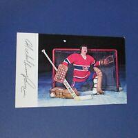 MICHEL LAROCQUE  1975-76  Montreal Canadiens team color postcard  1975 1976 RARE
