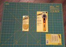 "Olfa, essential set, 18""×24"" cutting mat, Rotary Cutter,  45mm & 5 blades(45mm)"