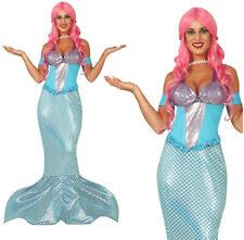 Beautiful Ladies Adult Mermaid Costume Fancy Dress Fairytale Halloween Womens UK