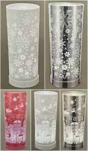 XMAS CHRISTMAS TOUCH LAMP CYLINDER ELECTRIC WAX MELT OIL BURNER COLOUR CHANGING