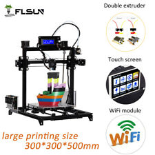 300x300x500mm I3 3D Printer Kit Heated Bed Dual Extruder Touch screen wifi model