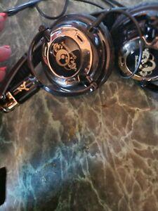 skullcandy headphones gold and black not wireless