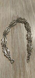 Art Deco Schmuck Silber Armband 835 Jugendstil alt Antik filigran
