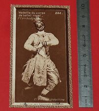 CHROMO SUCHARD 1933 COLONIES INDOCHINE N°244 CAMBODGE VEDETTE CORPS BALLET ROYAL