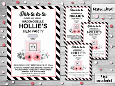 10 Personalised Hen Party Invites Invitations Wedding Chanel