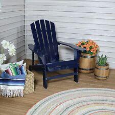 Sunnydaze Coastal Bliss Wooden Adirondack Chair - Navy Blue