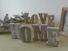 Wooden Letter Shaped Rustic Decorative Plaques & Signs