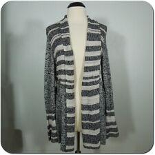 STYLE & CO Woman's Knit Cardigan Sweater Black/White, Wide Cuffs size 0X