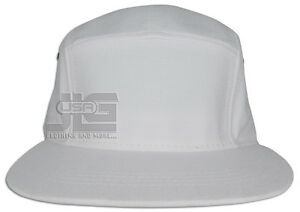 5 Panel Solid Camo Strap-back Adjustable Leather Strap Cap Hat JLGUSA