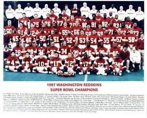 1987 WASHINGTON REDSKINS 8X10 TEAM PHOTO FOOTBALL NFL PICTURE SB CHAMPS