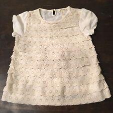 MATILDA JANE WHIPPED CREAM Lace Ruffles Top Shirt Girls Size 10