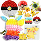 Sensory Fidget Toys Pokeman PikaPika Pokeball Hand Spinner Bubble Popi Game Gift