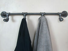 Industrial Retro Urban Rustic Iron Pipe Wall Mounted Towel Hook Rail Coat Rack