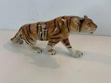Vintage Royal Dux Porcelain Czechoslovakia Bohemia Bengal Tiger Figurine