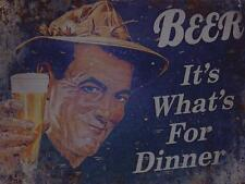 """BEER METAL WALL PLAQUE VINTAGE STYLE RETRO  8"""" X 6"""" approx"""