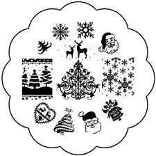 Weihnachts Stamping Schablone Stempel Platte X-Mas Eisblume Rentier W95