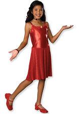 Girls High School Musical Gabriella Red Dress & Head Mic Costume Age 3-4